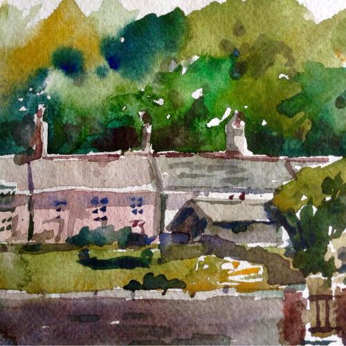 Artwork Cornish cottages