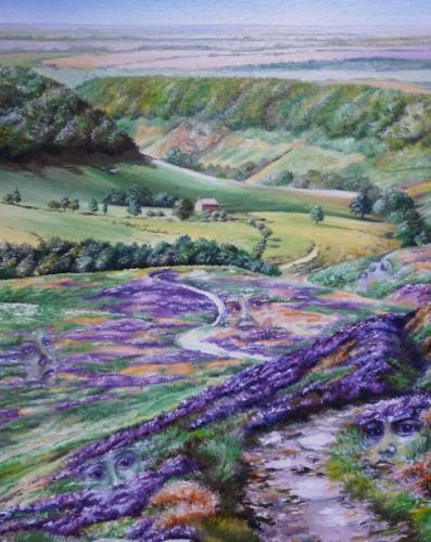 Pareidolia in Horcum in Purple by JayneF - Use the 'Create Similar' button to commission an artist to create your own artwork.
