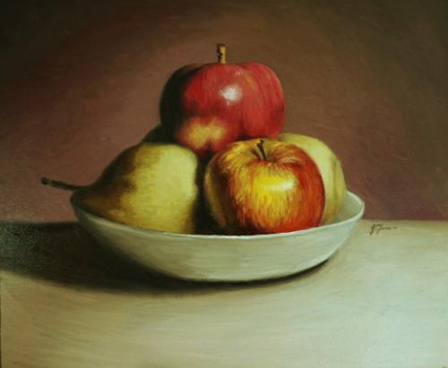 Artwork Fruit Bowl 12x10 inch oil on board