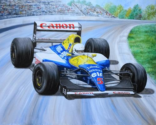 Artwork Williams Renault 1992 FW14b