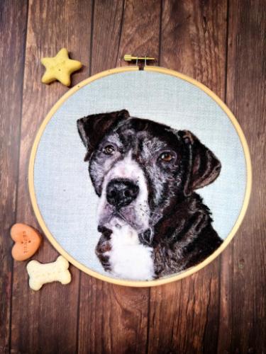 Artwork Old dog Needle felt portrait
