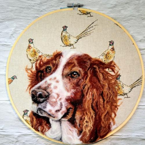 Artwork Springer Spaniel Needle Felt portrait