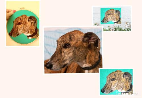 Brindle Greyhound Needle Felt Portrait by KarenP - Use the 'Create Similar' button to commission an artist to create your own artwork.