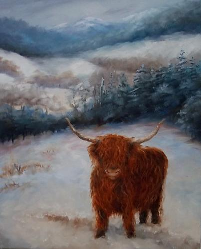 Artwork Highland cow