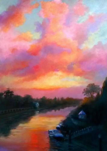 Artwork Pastel Sunrise