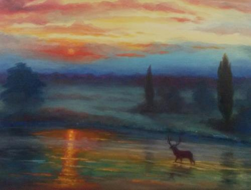 Artwork Pens Pond Sunrise