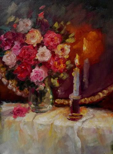 Artwork Roses & candle