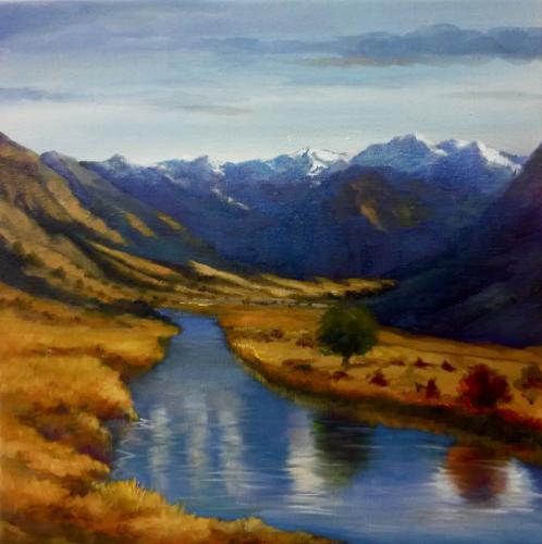 Alpine Lake II by LeeC - Use the 'Create Similar' button to commission an artist to create your own artwork.
