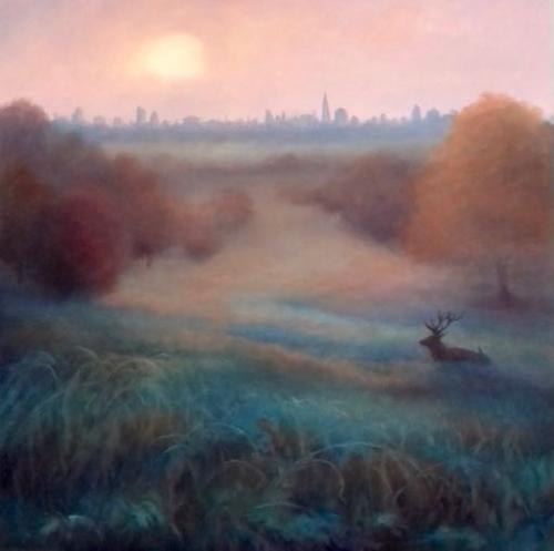 Artwork Morning Mist Richmond Park