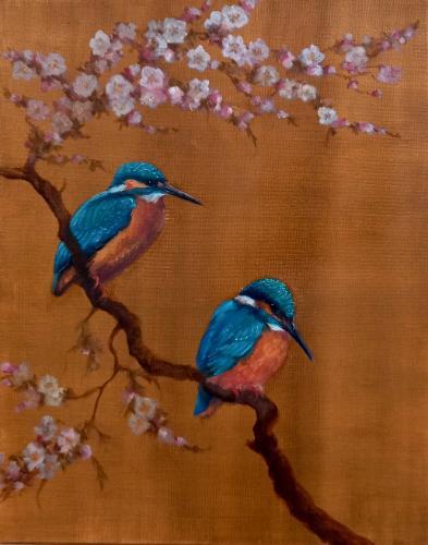 Artwork Two Kingfishers
