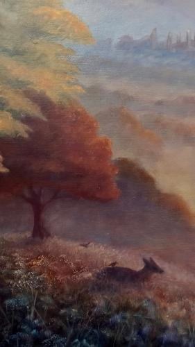 Matin d Octobre - Richmond Park by LeeC - Use the 'Create Similar' button to commission an artist to create your own artwork.