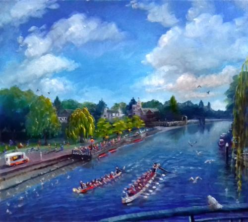 Twickenham Summer by LeeC - Use the 'Create Similar' button to commission an artist to create your own artwork.
