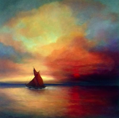 Artwork Red Sails II - Thames Barge
