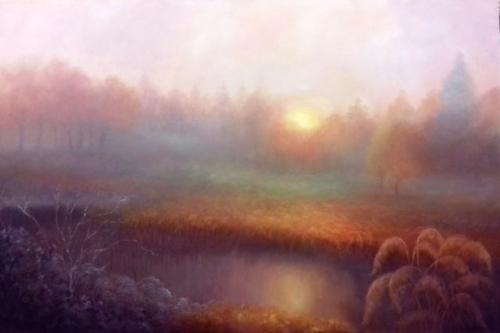 October Mist by LeeC - Use the 'Create Similar' button to commission an artist to create your own artwork.