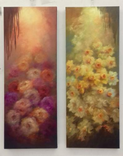 Artwork Tall Roses and Daffodils