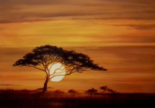 Artwork African Sunset