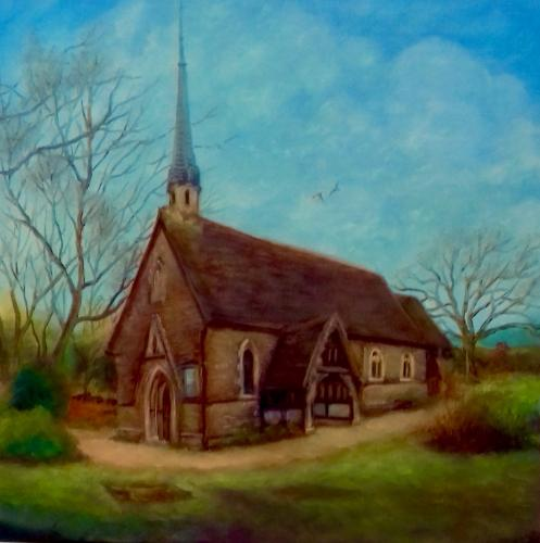 Country Church by LeeC - Use the 'Create Similar' button to commission an artist to create your own artwork.