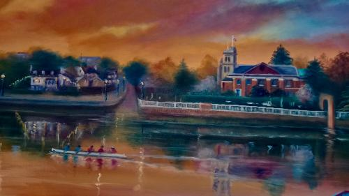 Twickenham Riverside by LeeC - Use the 'Create Similar' button to commission an artist to create your own artwork.