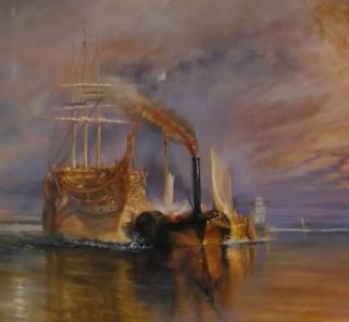 Copy of Fighting Temeraire by Turner by LeeC - Use the 'Create Similar' button to commission an artist to create your own artwork.