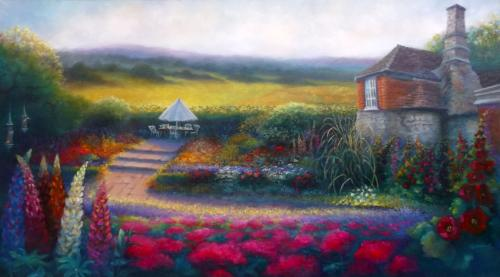 Kentish Garden by LeeC - Use the 'Create Similar' button to commission an artist to create your own artwork.