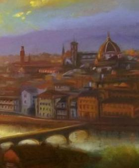 Florence Sunset by LeeC - Use the 'Create Similar' button to commission an artist to create your own artwork.