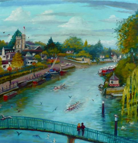 Eel Pie Summer by LeeC - Use the 'Create Similar' button to commission an artist to create your own artwork.