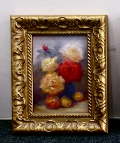 Artwork Roses with Fruit