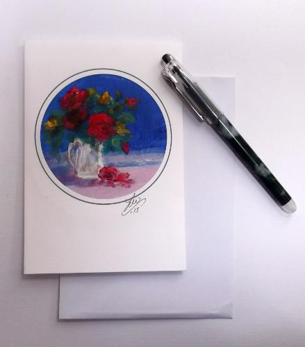 Artwork Miniature Oil Paintings - Cards ready to frame