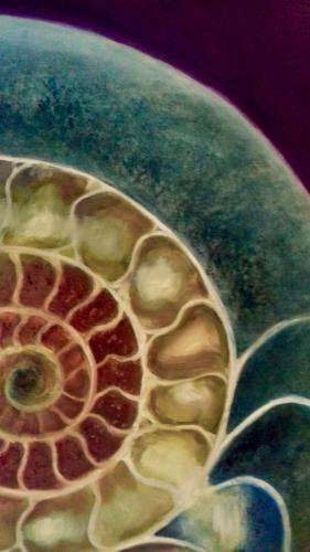 Ammonite Green & Gold by LeeC - Use the 'Create Similar' button to commission an artist to create your own artwork.