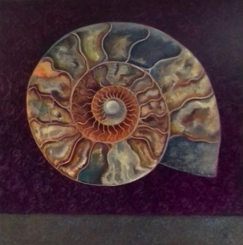 Artwork Ammonite Magenta