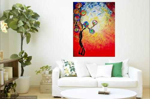 The rainbow tree by Dilber - Use the 'Create Similar' button to commission an artist to create your own artwork.