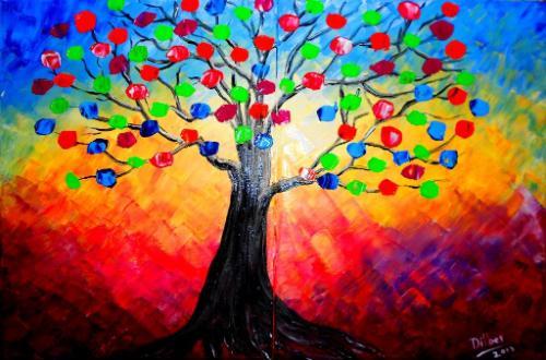 Artwork Rainbow tree 2