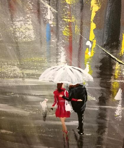 Love in Paris by Dilber - Use the 'Create Similar' button to commission an artist to create your own artwork.