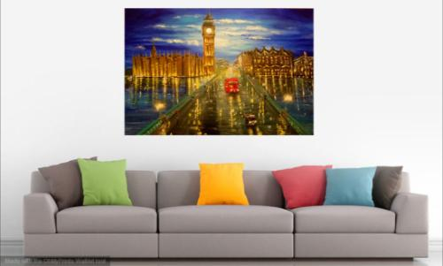 London Westminster 2 by Dilber - Use the 'Create Similar' button to commission an artist to create your own artwork.