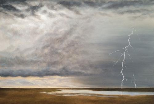 Artwork Thunderhead Over Saltmarshes