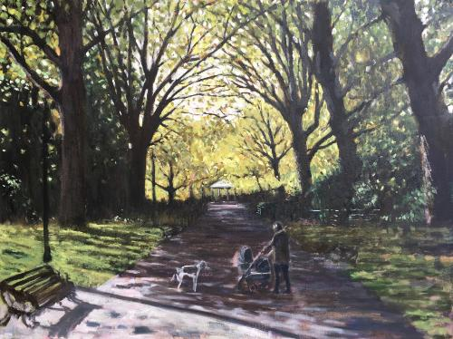 Artwork Battersea Park birthday commission
