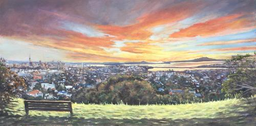 Artwork Auckland from Mt Hobson