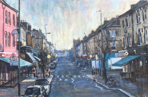 Artwork Northcote Road, winter light