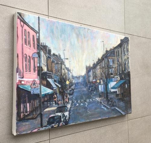 Northcote Road, winter light by Louise - Use the 'Create Similar' button to commission an artist to create your own artwork.