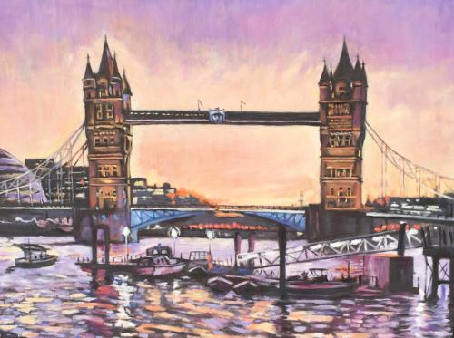 Artwork Tower Bridge sunset commission