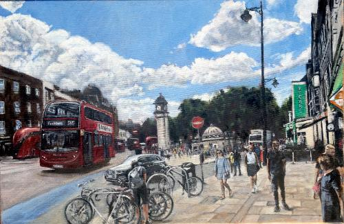 Artwork Clapham townscape commission