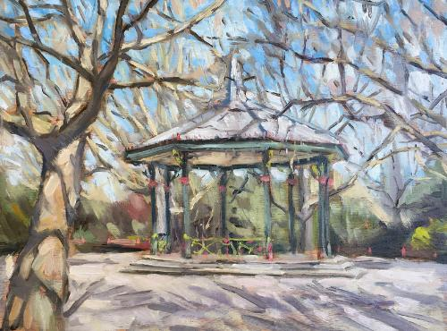 Artwork Battersea Park bandstand plein air