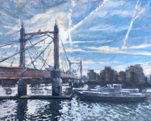 Artwork Albert Bridge contre jour