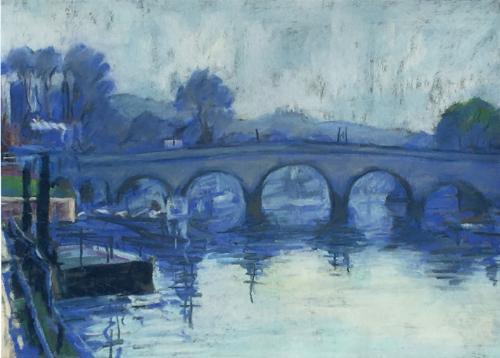 Artwork Richmond Bridge in blue