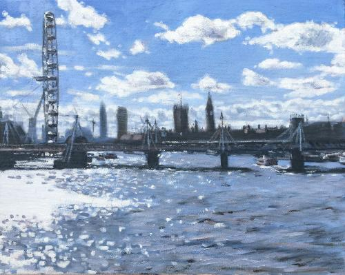 Thames impressions by Louise - Use the 'Create Similar' button to commission an artist to create your own artwork.
