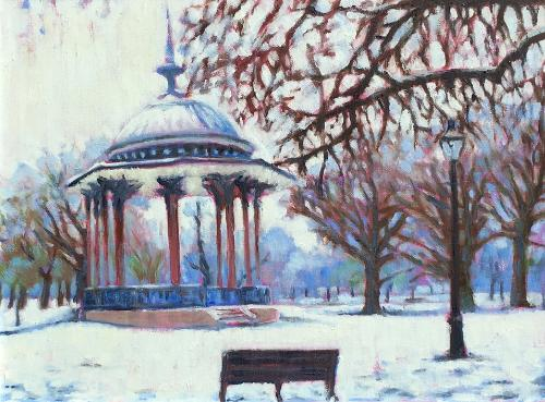 Clapham Common snow by Louise - Use the 'Create Similar' button to commission an artist to create your own artwork.
