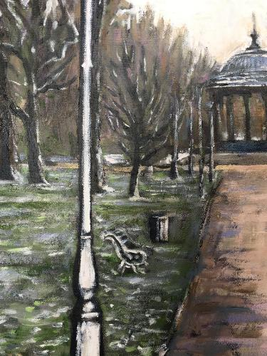 Clapham Common winter by Louise - Use the 'Create Similar' button to commission an artist to create your own artwork.