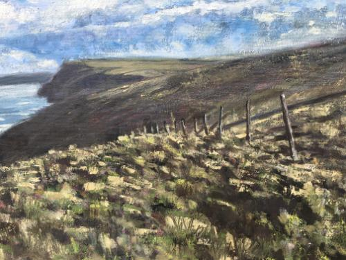 View from the South West coastal path, Boscastle by Louise - Use the 'Create Similar' button to commission an artist to create your own artwork.