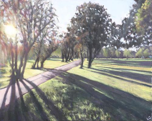 Artwork Long shadows, Wandsworth Common