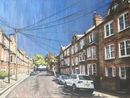 London street commission by Louise - Use the 'Create Similar' button to commission an artist to create your own artwork.